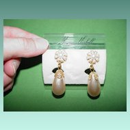 Miriam Haskell Baroque Faux Pearl Earrings