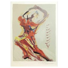 David Alfaro Siquieros Lithograph of a Woman Figure. Ed. 68/70