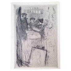 "Jean Francois Raffaelli Etching,""Les Rapins"" 1909"