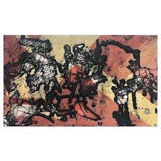 """Juan Gomez Quiroz Etching, """"Cosmos"""""""