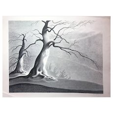 "Ellison Hoover Lithograph, ""Corsican Morning"""