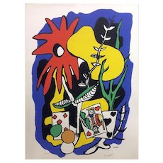 "Fernand Léger Original Lithograph, ""The King of Hearts"""