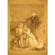 Daniel Maclise, illustration of the legend of Evangeline, 19th century Drawing