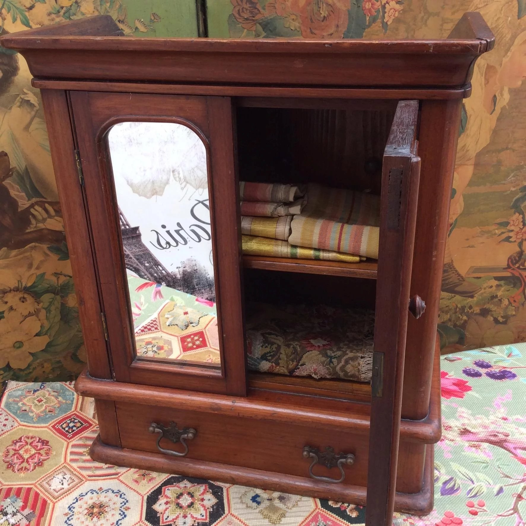 fine miniature antique armoire for your french fashion. Black Bedroom Furniture Sets. Home Design Ideas