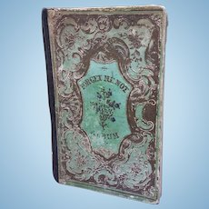 Early Small Size Antique Scrap Book for Antique Doll Display c1848
