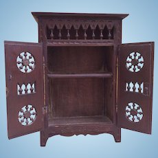 Miniature Breton Armoire. For Size 1 Bebes or small French Fashion Dolls.