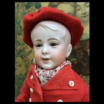"""Charming Cabinet size S.F.B.J 237 Character BOY.  13.5"""""""