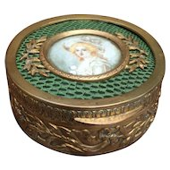 Fabulous French Antique Trinket Box for your Fashion Doll or Bebe's Jewels!