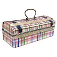 Fine Quality Miniature Dresden Candy Container Trunk for Huret, Rohmer, Bru, Jumeau.