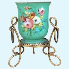 Beautiful Antique French Miniature Jardiniere for Fashion Poupée Display. Huret, Rohmer, Bru, Jumeau