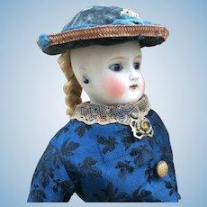 """Early German Fashion Doll. 13.5"""""""