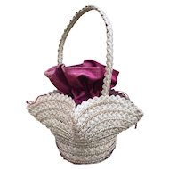 Antique French Candy Container Basket for large French Fashion Poupee or Bebe Jumeau, Bru.