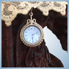 Tiny Vintage French Fashion Poupee Watch. For FF, Tiny Bebe or large Mignonette.
