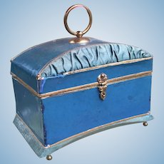 Fabulous Luxury Antique French Candy Container Casket for French Fashion Poupee, Bebe or Mignonette Display.