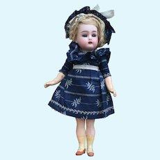 "Pretty Petite 9"" Antique Simon Halbig K*R Mignonette with Walking Mechanism. All Original"
