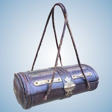 Antique French Etui Neccessaire Bag for French Bebe or Fashion Poupee Display. Bru, Jumeau, FG.