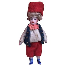 French All Bisque Lilliputian Mignonette by SFBJ in Factory Original Clothing.