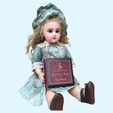 Charming Antique Miniature Book to Display with your Jumeau, Bru, Steiner Bebe. Fine Quality. Dated 1880.