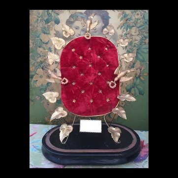 Beautiful French Globe de Mariee Display Stand for your French Fashion Doll Accessories. Huret, Rohmer, Bru, Jumeau.