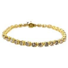 18k Yellow Gold Bracelet Diamond Link