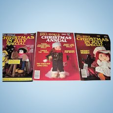 Doll World l983 Christmas Annual, l983 and 1984 Christmas in July Special.