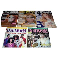 Doll World Issues from 1992.  February, June, August, October, and December