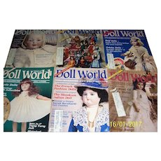 Doll World issues from 1988. February, April,  June, August, October and December