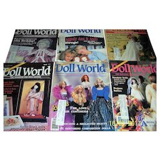 Doll World issues from 1987, complete set
