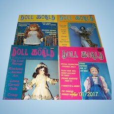 Doll World issues from 1985.  February, April, October, and December.