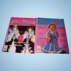 Doll World issues from February and April 1984.