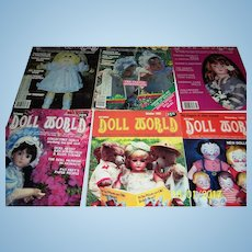 Doll World issues from 1983.  Complete set for the year.