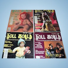 Doll World issues from 1982, June ,  August, October, and December.