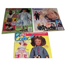 Doll Collector price guides for spring,summer and autumn of 1995