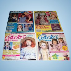 Doll Collectors Price Guides for spring , summer, autumn  and winter of 1991.