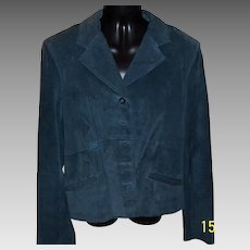 Vintage Suede Jacket and skirt by i.e. in French blue
