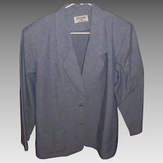Alfred Dunner Vintage Ladies Blue Denim Blazer