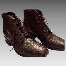 Vintage West Bound Basset Leather Walking Ankle Boots