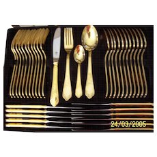 1988 Solinzen Gold Plated Cutlery Set from Western Germany.