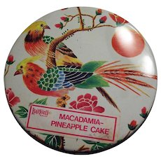 Bartons Brightly Colored Cake Tin With Birds and Flowers