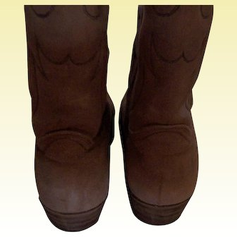 Vintage Ladies Cowgirl Caramel Brown Boots