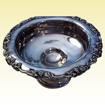Grape Pattern, Silverplated, Fruit Bowl