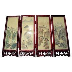 Four Panel Tabletop Shoji Screen