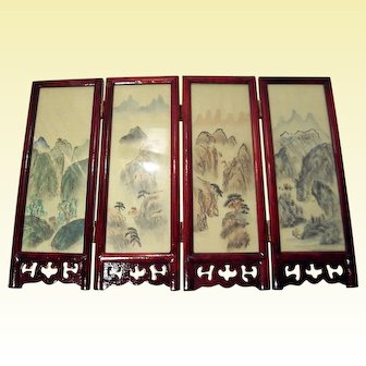 Four Panel Tabletop Shoji Screen