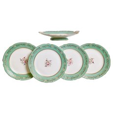 Part dessert service for 4, Samuel Alcock, ca 1850