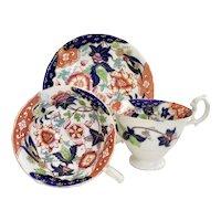 Tea/coffee cup trio, Rococo Revival Samuel Alcock ca 1840