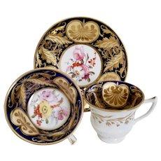"""Staffordshire trio, superb """"v"""" decoration, ca 1820"""