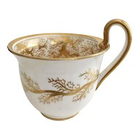 Orphaned Coalport coffeecup, Seaweed patt 859 on Empire shape, 1820