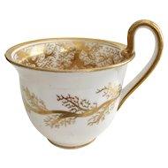 Orphaned Coalport coffeecup, Seaweed patt 859 on Empire shape, 1820