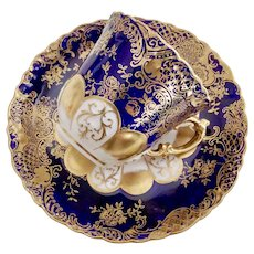Aynsley demitasse cup, Art Nouveau cobalt blue gilt, 1891-1912