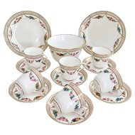 Beautiful antique Mid-Victorian tea set for six, Brown-Westhead & Moore, 1872